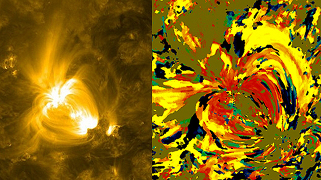 Heat map of the Sun looks like something Monet would be proud of