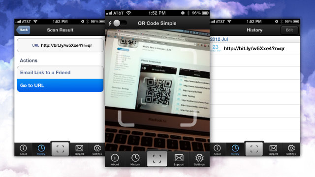 Click here to read QR Code Simple Is a Super Fast QR Code Scanner Without Any Annoying Features or Ads