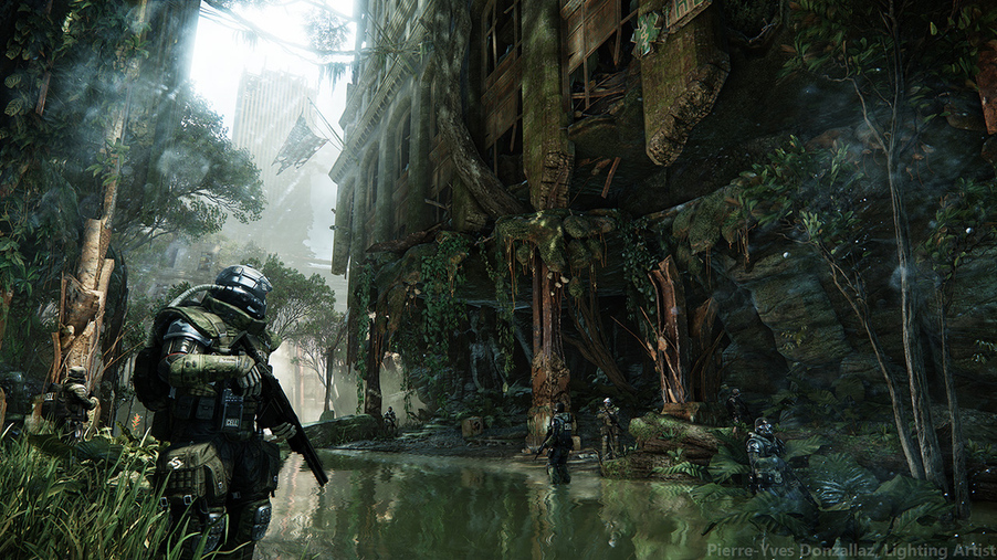 these leaked crysis 3 screenshots take you into the green hell of manhattan kotaku australia. Black Bedroom Furniture Sets. Home Design Ideas