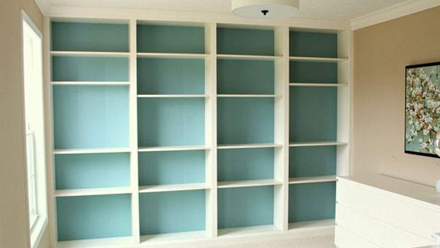 DIY Built-in Ikea Bookcases