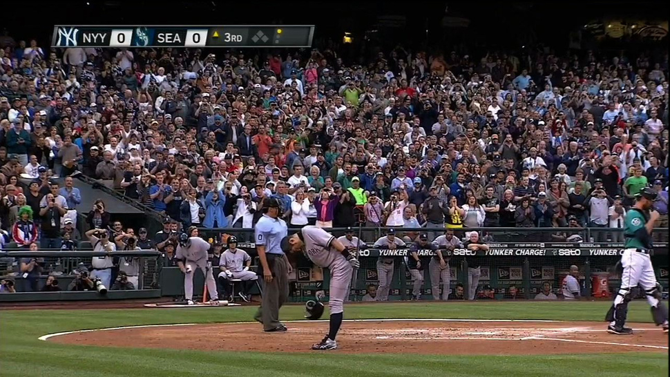 Ichiro's First At-Bat As A Yankee: A Double Bow To Mariners Fans, Followed By A Slap Single Up The Middle