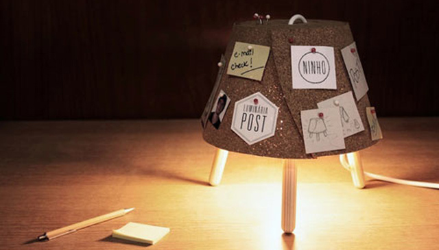A Cute Lamp That's Also a Bulletin Board
