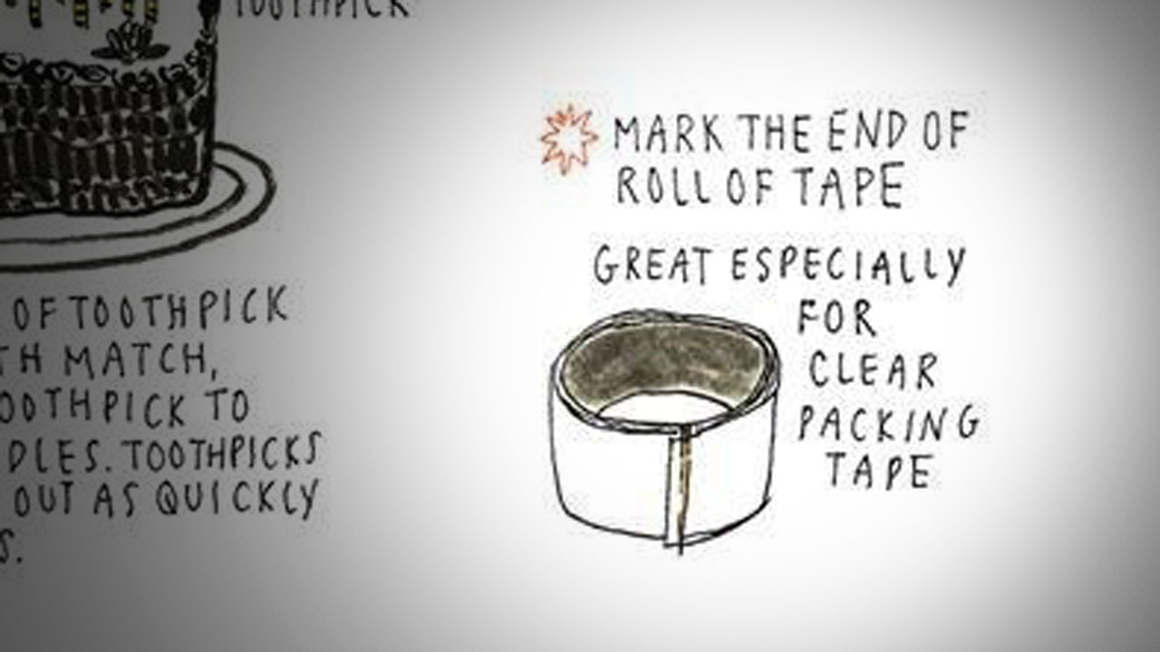Click here to read Mark the End of a Roll of Tape with a Toothpick for Easier Use