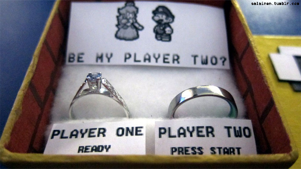With A Mario Marriage Proposal This Super How Could He Say No