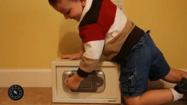 Kid Opens a Gun Safe Just by Jostling It Around