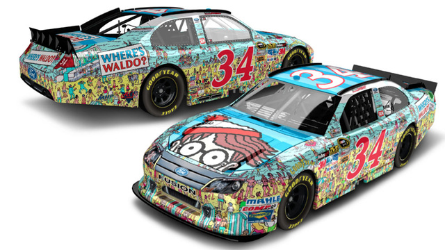 This Is The Where's Waldo Paint Job That Will Debut In NASCAR This Fall