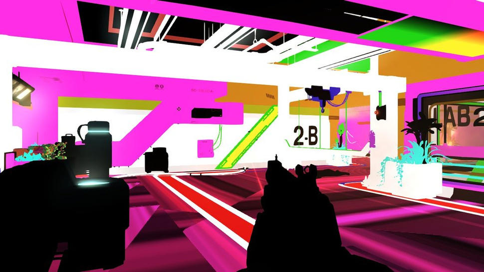 A Glitch Turns <em>Deus Ex: Human Revolution</em> into Funktastic Pop Art