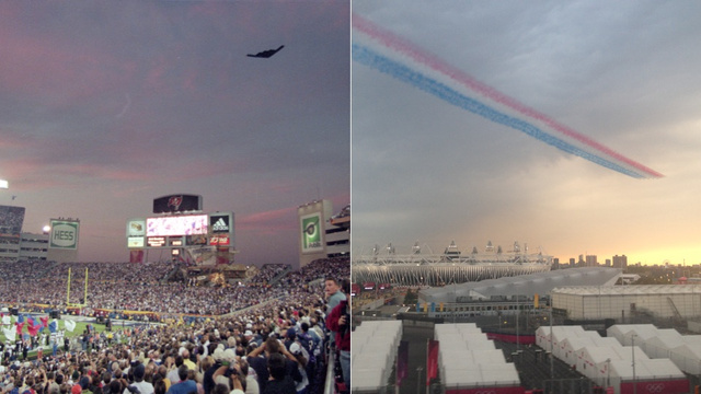 Who Does Military Overkill Sports Flyovers Better: USA vs UK