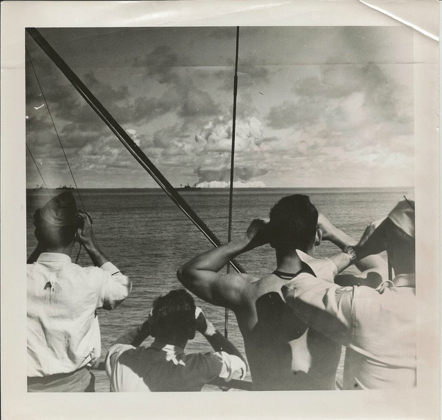 Rare photographs of atomic bomb testing at Bikini Atoll