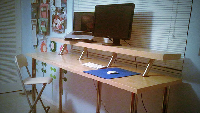 Make Yourself A Standing Desk This Weekend