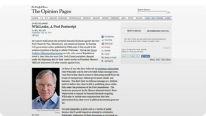 The Fake NY Times WikiLeaks Op-Ed That Fooled Pretty Much Everybody