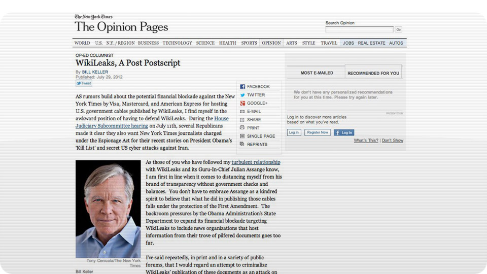Click here to read The Fake <i>NY Times</i> WikiLeaks Op-Ed That Fooled Pretty Much Everybody