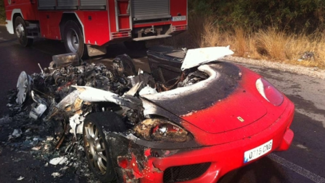 Guess Which Soccer Player's Ferrari Just Burned To The Ground?