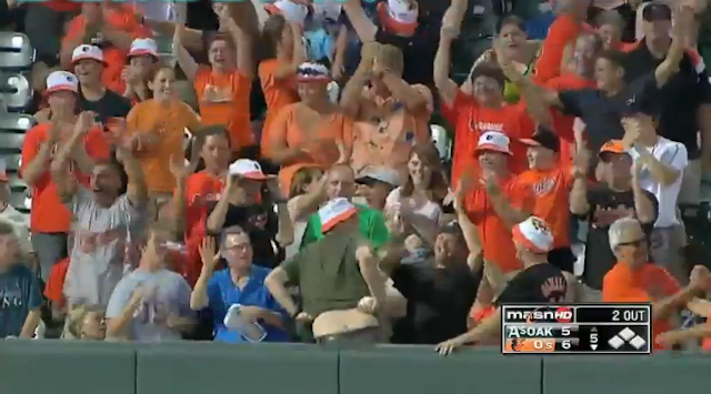 Man Catches Adam Jones Home Run Ball, Man Moons Everyone