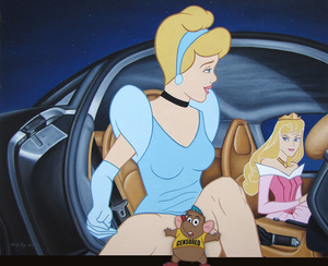 For $4000, you too can own a painting of Bambi witnessing a threesome