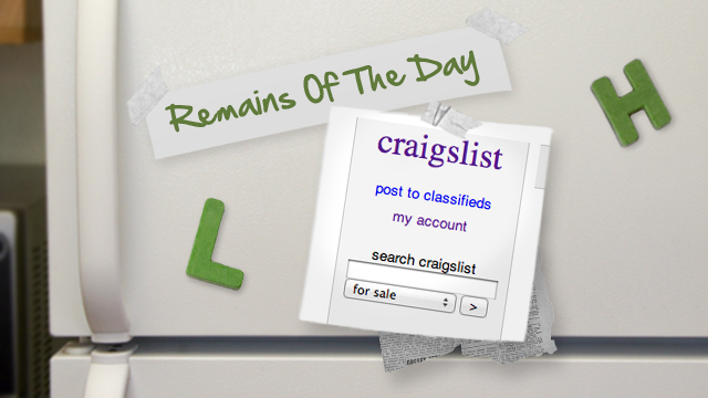 Click here to read Remains of the Day: Craigslist Is Now the Sole Owner of Your Ads