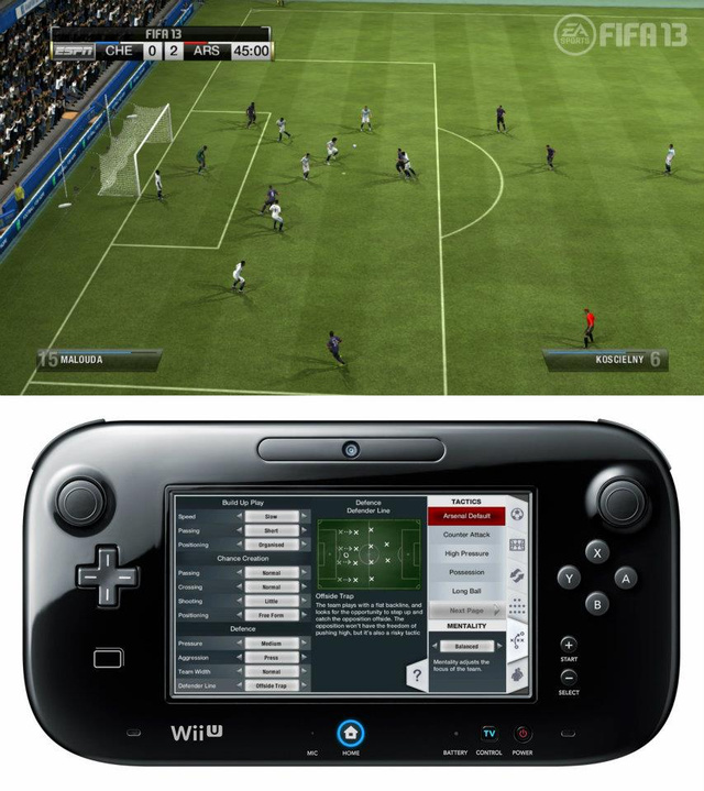 Leaked Screens Show How FIFA 13 Works with the Wii U Controller