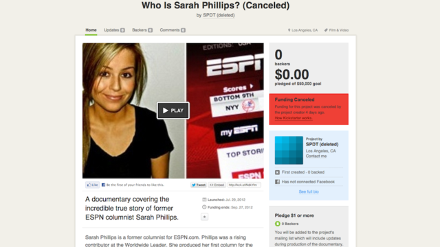 Would You Like To Donate Money To A $50,000 Sarah Phillips Documentary? If So, You Are Too Late