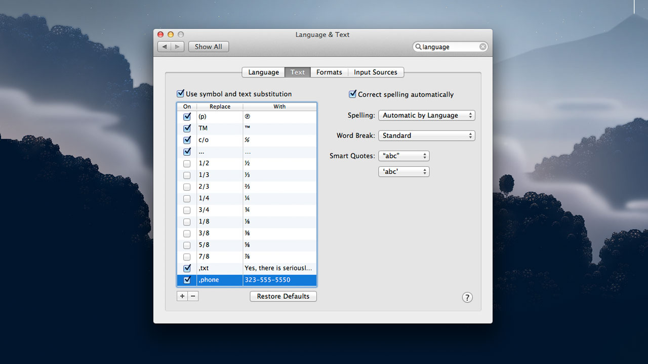 Click here to read Do Yourself a Favor: Set Up Mountain Lion's Built-in Text Expansion with These Shortcuts