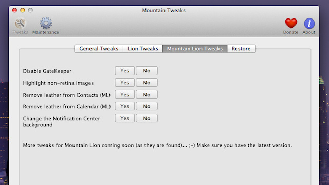 Mountain Tweaks Fixes Common Annoyances OS X Mountain Lion