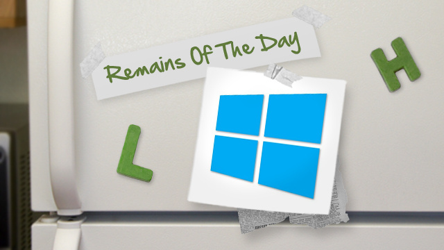 Remains of the Day: Windows 8 Leaks onto Torrent Sites