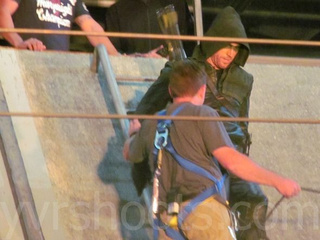 Behind the Scenes Stunt Photos of Arrow