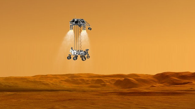 mars curiosity rover landing animation - photo #12
