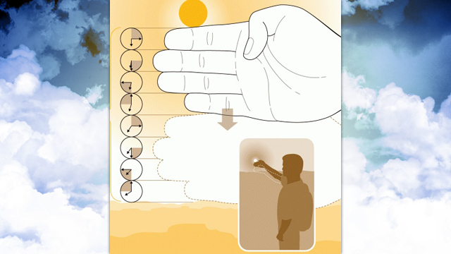 Click here to read Estimate the Time of Sunset with Your Hand