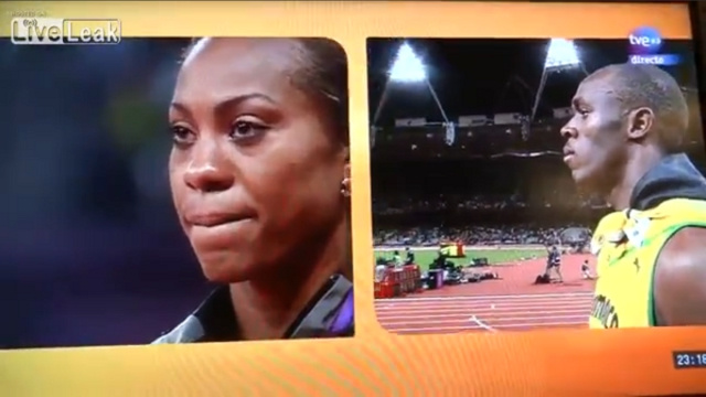 Classy Athlete Usain Bolt Halts Interview to Show Respect for Fellow Runner's Gold Medal Moment