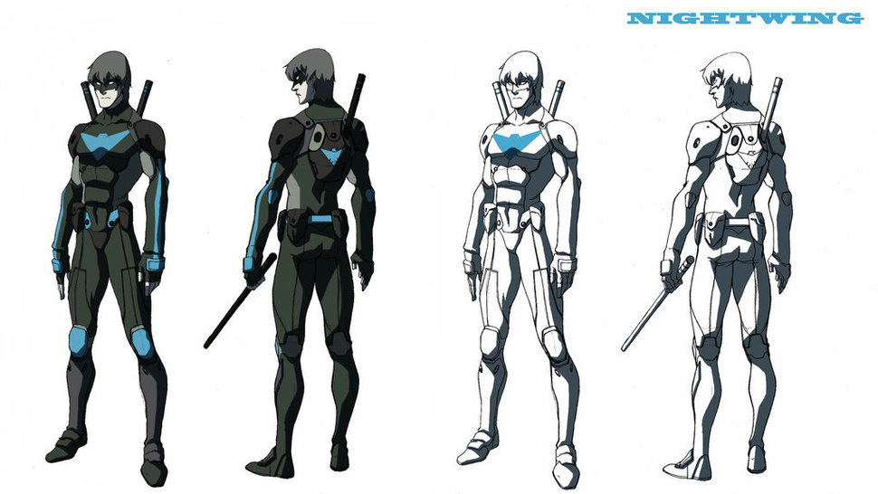 Artwork from scrapped Nightwing cartoon shows off DC heroes, <em>Legend of Korra</em> style