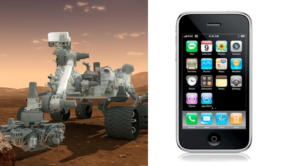 iPhone 4S Is 4x More Powerful Than The Curiosity Rover