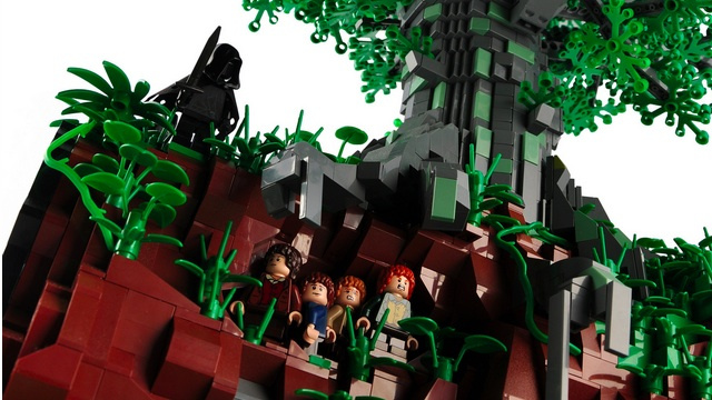 An epic LEGO recreation of the Ringwraiths' hunt for Hobbits