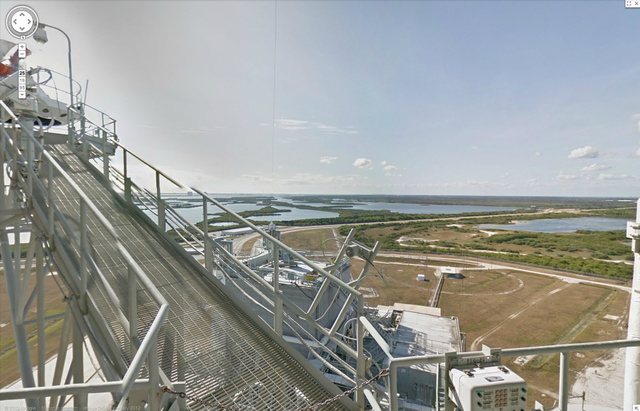 Google street view is now available for NASA Kennedy Space Center