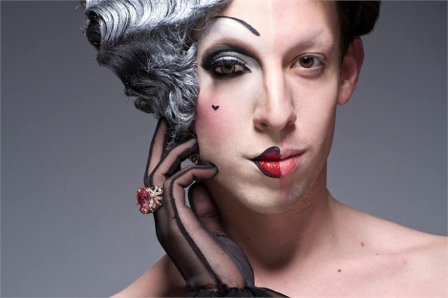 The Half-Drag Project Shows How Drag Queens Transform with Makeup