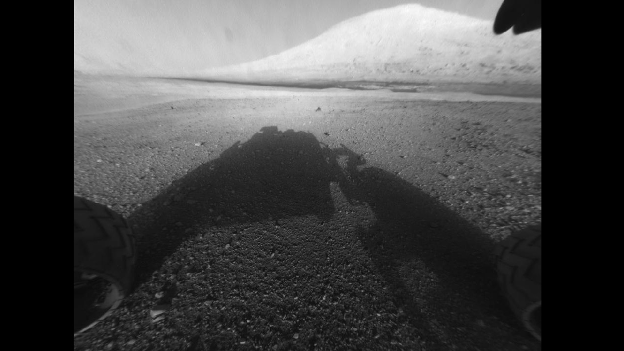 Click here to read First High Resolution View By Curiosity Shows Impressive 3-Mile-Tall Mount Sharp