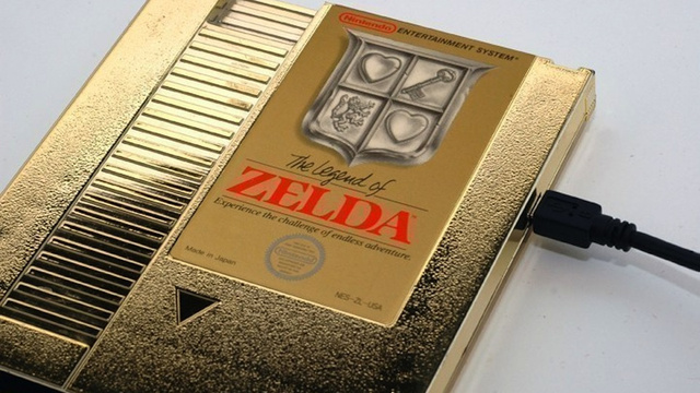 This External Hard Drive Is Wrapped in a Shiny Zelda Cartridge