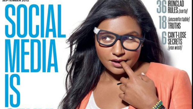 Mindy Kaling Masters the Sexy, Kinda Thing on the Cover of Fast Company