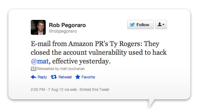 Click here to read Amazon Says It Closed Its Glaring Authentication Hack Exploit