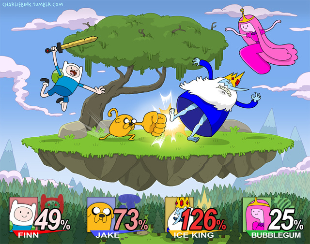 When You Cross Adventure Time With Smash Bros. You Get Awesome