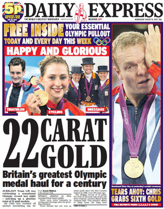 British Newspaper Celebrating British Gold Accidentally Puts Dutch Team On Front Page