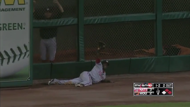 Roger Bernadina Pulls Off The Season's Most Dramatic Game-Ending Catch