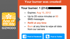 Burner: Stop Worrying About Creeps Calling
