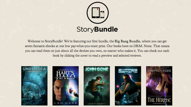 Click here to read StoryBundle Sells Bundled, DRM-Free Indie Ebooks for Whatever You Think They're Worth