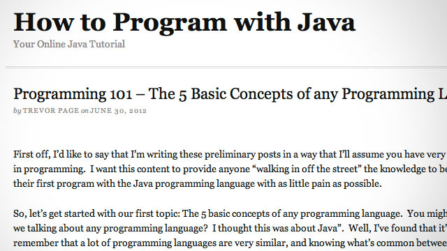 Click here to read How to Program With Java Teaches You the Basic Concepts of Programming (and Java, Of Course)