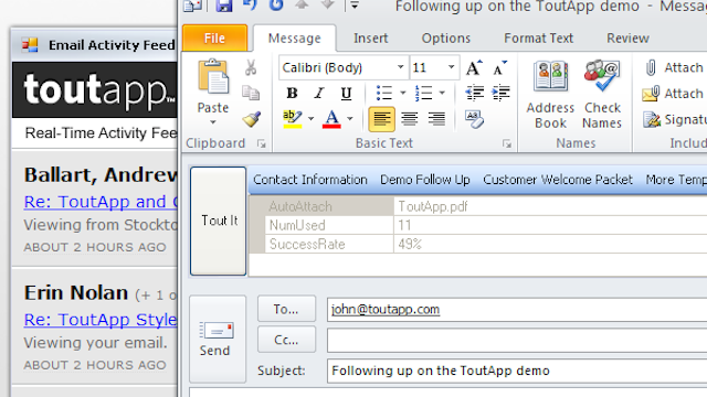 ToutApp Comes to Outlook, Brings Its Message Tracking and Inbox Organizing Power Along With It