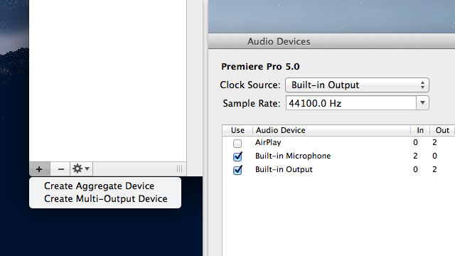 Click here to read How to Aggregate and Use Multiple Audio Inputs and Outputs in OS X