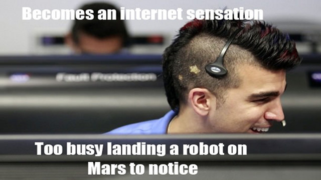 Click here to read NASA's Mohawk Guy Loves Mars and Memes in (Almost) Equal Measure