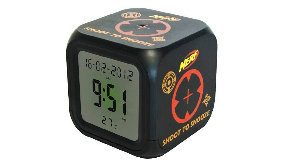 Click here to read Dart Silenced Alarm Clock Is A Great Excuse To Sleep With a Nerf Gun Under Your Pillow