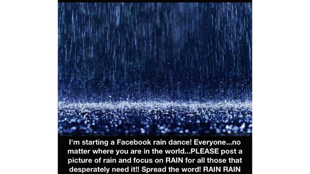 Drought-Stricken Americans Resort to Facebook Memes to Summon Rain