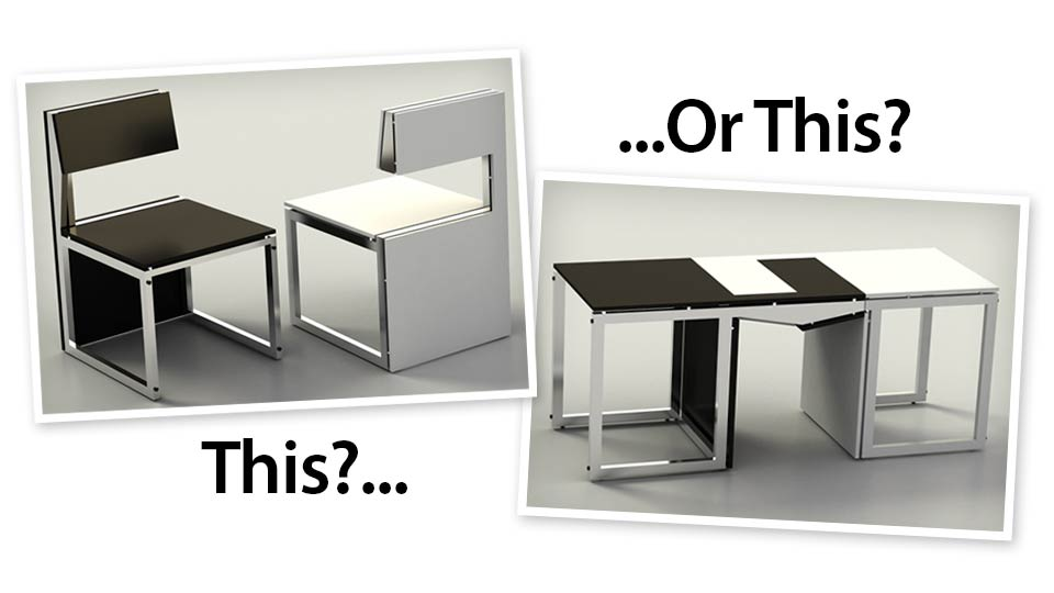 Transforming Furniture Makes You Choose Between Sitting